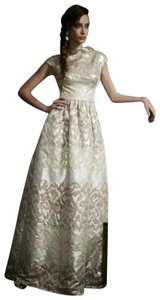 10047e511bc Badgley Mischka Ball Gown Beaded Sequin Jacquard Gown Dress