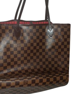 Louis Vuitton Tote In Ebene W Red Interior Lining