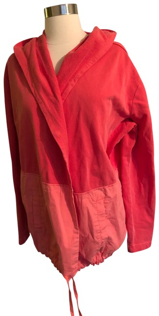 Item - Coral Hooded Cardigan Activewear Size 12 (L)