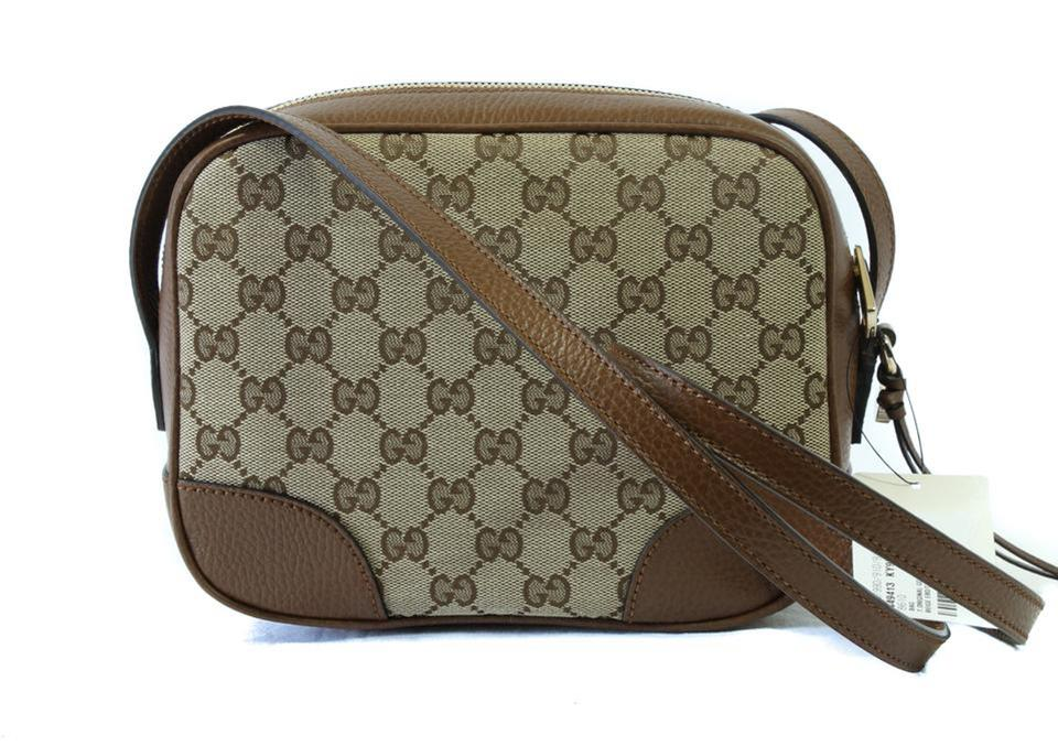 0d288f6d561 Gucci Bree 449413 Gg Multicolor Canvas Cross Body Bag - Tradesy
