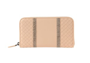 Bottega Veneta Bottega Veneta Pale Intrecciato Nappa Ayers Zip Around Wallet