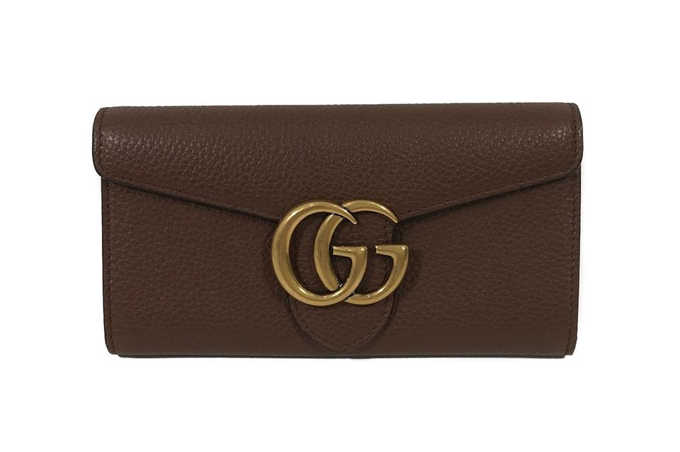 b884d0b98f50 Gucci GUCCI 400586 GG Marmont Leather Wallet, Brown Image 0 ...