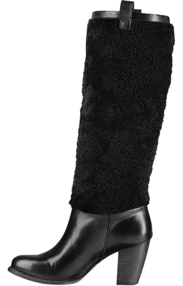 48065a97ee2 UGG Australia Black Ava Exposed Fur Boots/Booties Size US 8 Regular (M, B)  28% off retail