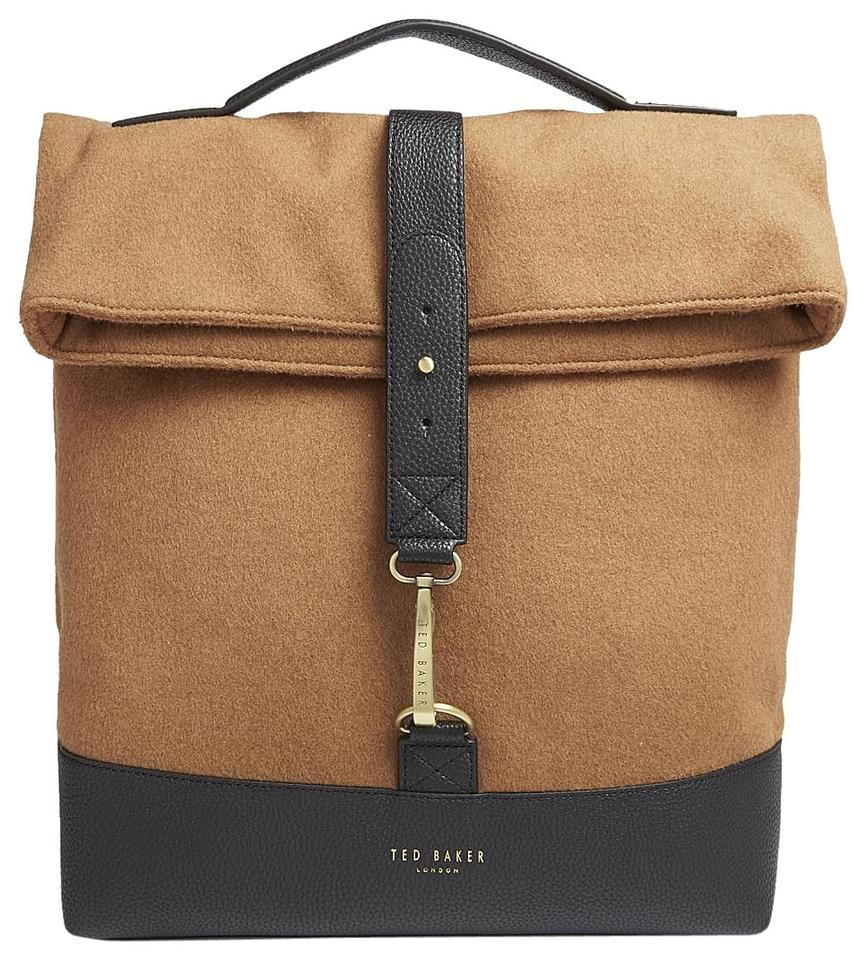 1f51c3ea31d4c Ted Baker Cashed Roll Down Rugsack Camel Wool Blend Backpack - Tradesy