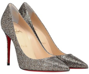 Christian Louboutin Gold Silver Bronze Multicolor Pumps