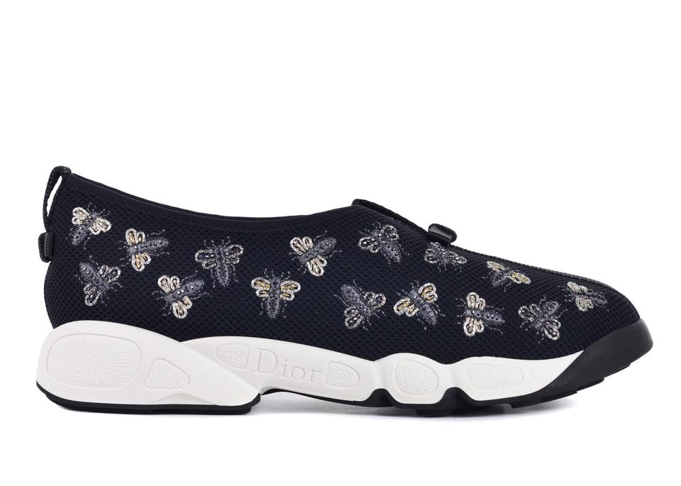87862150320c Dior Black Womens Fusion Bee Embroidery Technical Sneakers C3318 Sneakers