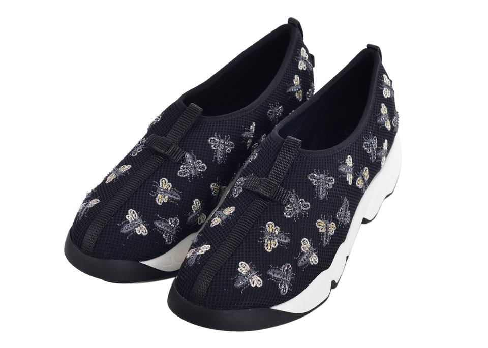bb1bca48f108 Dior Black Womens Fusion Bee Embroidery Technical Sneakers C3318 ...