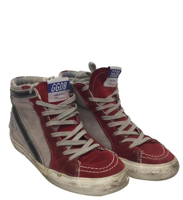 Item - Red Suede & Blush Canvas Slide Sneakers Size EU 38 (Approx. US 8) Regular (M, B)