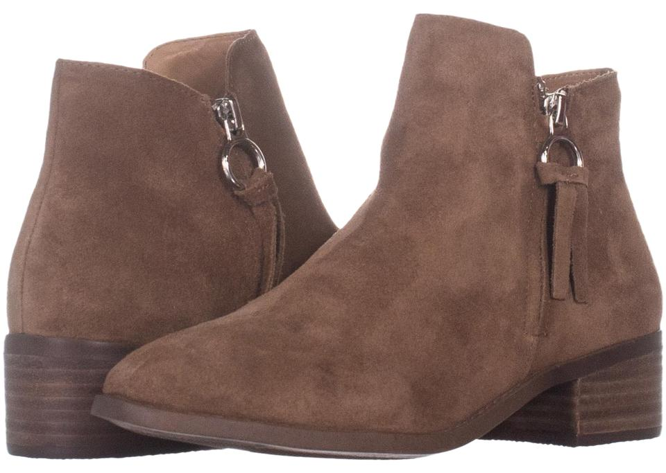 6714f0fe0d7 Steve Madden Brown Dacey Ankle 721 Cognac Suede Boots Booties Size ...
