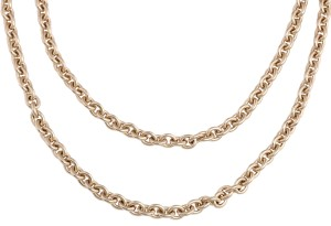 Chanel Gold Logo Layered Chain Necklace