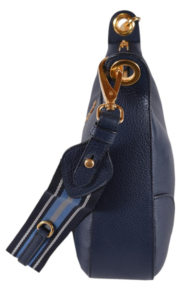 94ff121d384e Prada New Baltico Soft Daino Stripe Strap Purse Blue Leather Cross ...