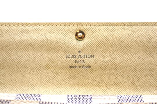 Louis Vuitton Damier Azur Long Flap Wallet Pocket Card bill case zip zipper Sarah