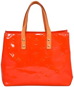Louis Vuitton Monogram Vernis Patent Leather Reade Tote in Red