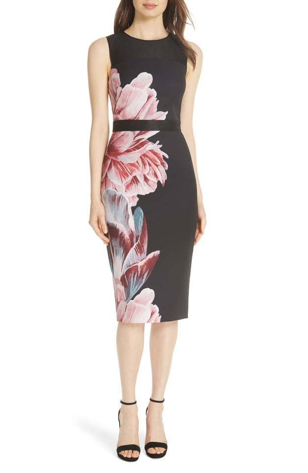 2a22434a8 Ted Baker Multi Color London Xanadu Tranquility Sheath (Us 8-10) Formal  Dress