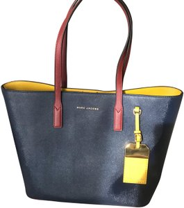 Marc Jacobs Tote in navy/maroon/yellow