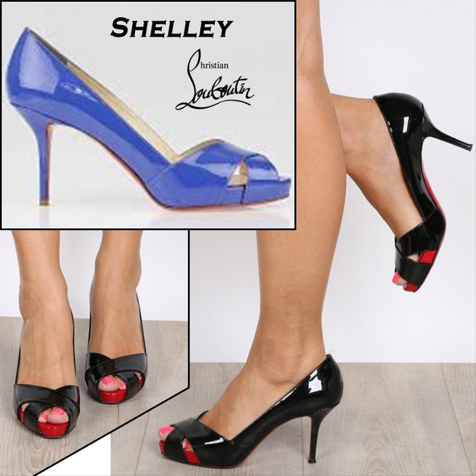 huge selection of bbd3c 69a66 Details about Christian Louboutin Blue Shelley Patent Leather Pumps EU 39  US 8.5