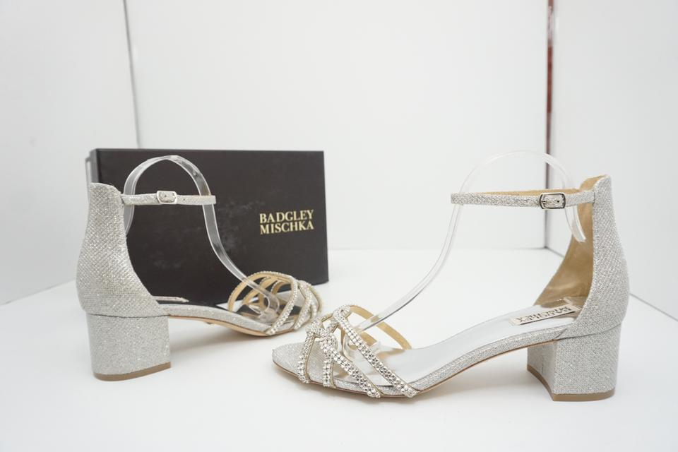 806713639c3 Badgley Mischka Silver Sonya Diamond Drill Women s High Heel Bridal Sandals  Size US 11 Regular (M