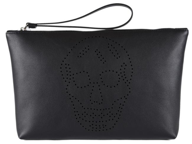 Item - New Perforated Skull Black Leather Wristlet