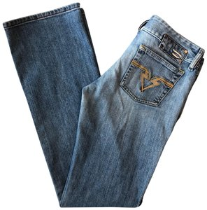 Diesel Womens Skinny Stretchy Boot Cut Jeans-Light Wash