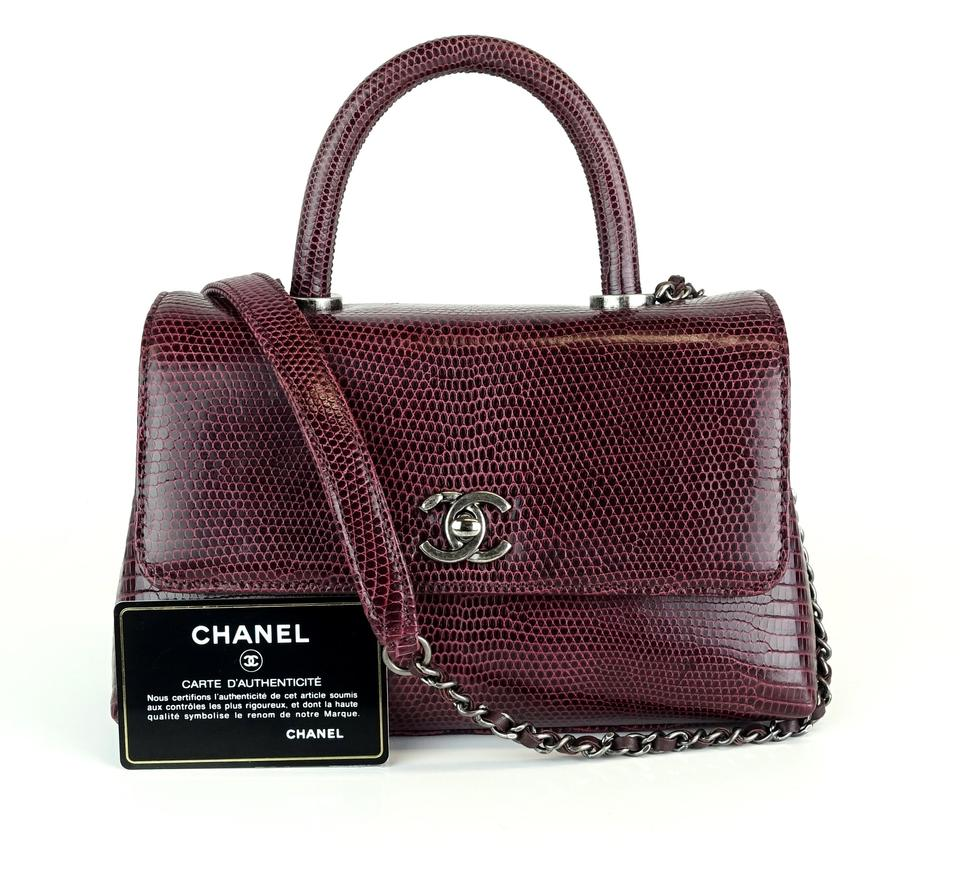1141b0fe952c4e Chanel Lizard Handle Top Handle Flap Coco Exotic Cross Body Bag Image 0 ...