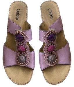 Gabor purple and tan Sandals