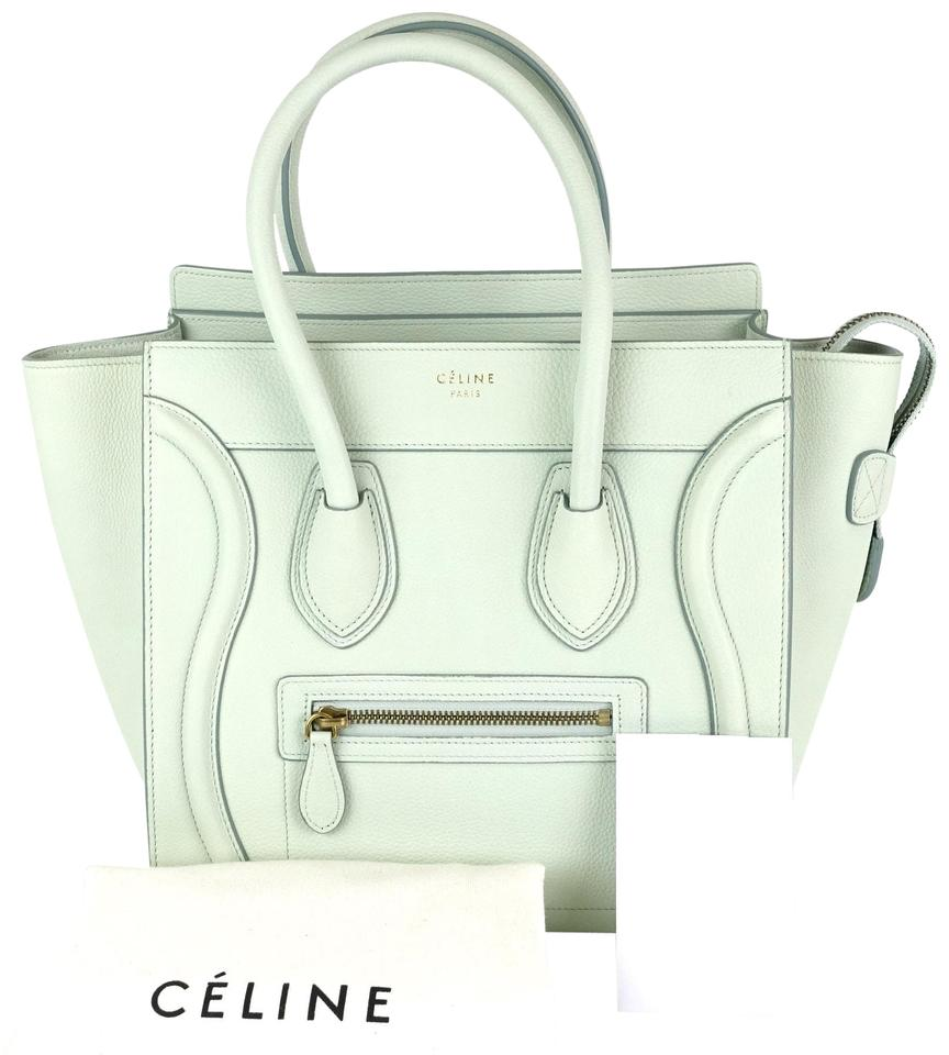 9d935590c6 Céline Luggage Micro Grained Jade Calfskin Leather Tote - Tradesy