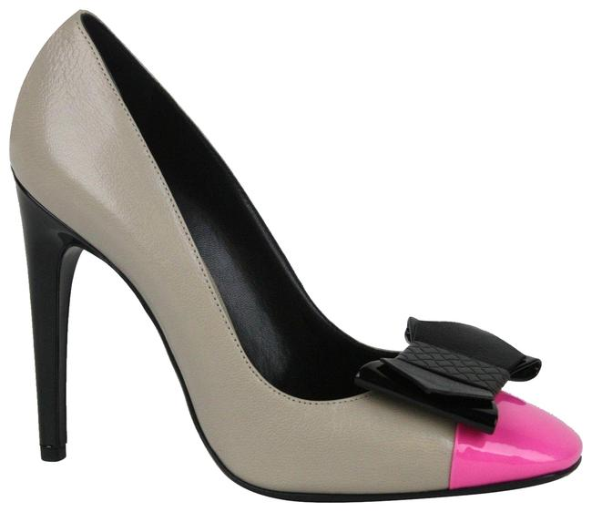 Item - Multi-color W New Leather Bow W/Pink Toe It / 8 352588 9796 Pumps Size EU 38 (Approx. US 8) Regular (M, B)