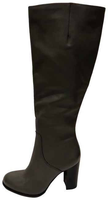Item - Charcoal Grey New Regina Leather Knee High Boots/Booties Size US 9 Regular (M, B)