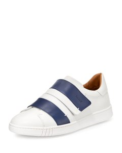 Bally White Willet Blue Leather Logo Swiss Sneakers 8 Us 41 Italy Shoes