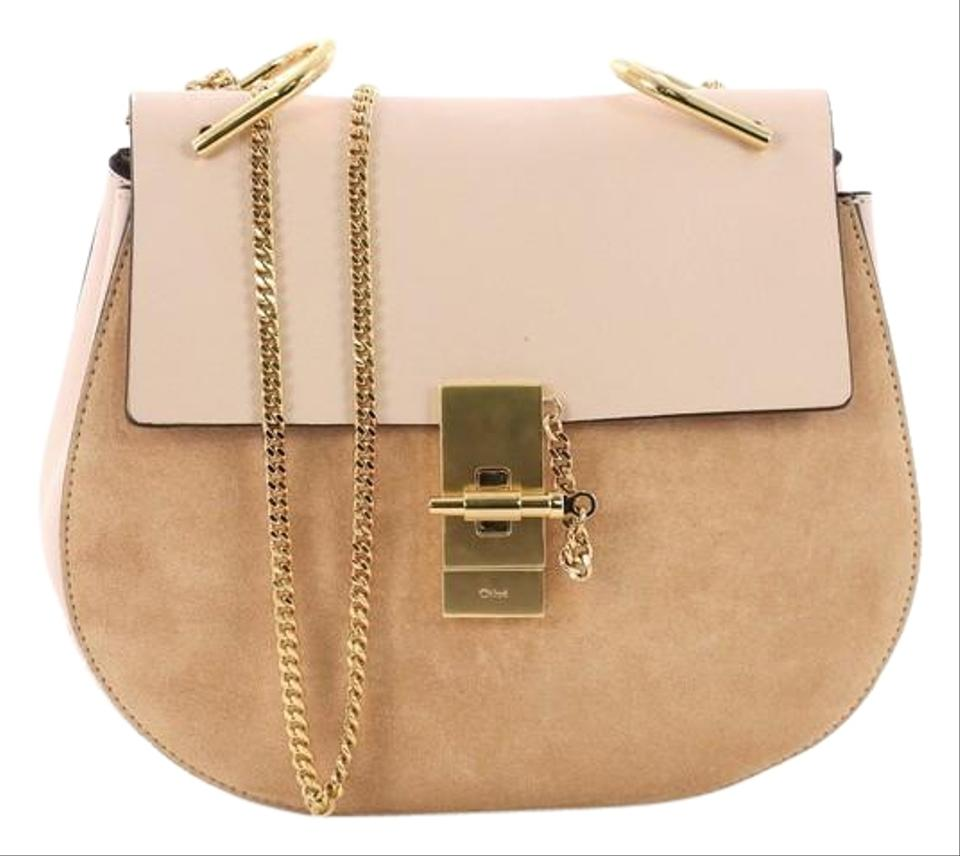 37df670ba6a68 Chloé Drew Small Light Pink Leather and Suede Cross Body Bag - Tradesy