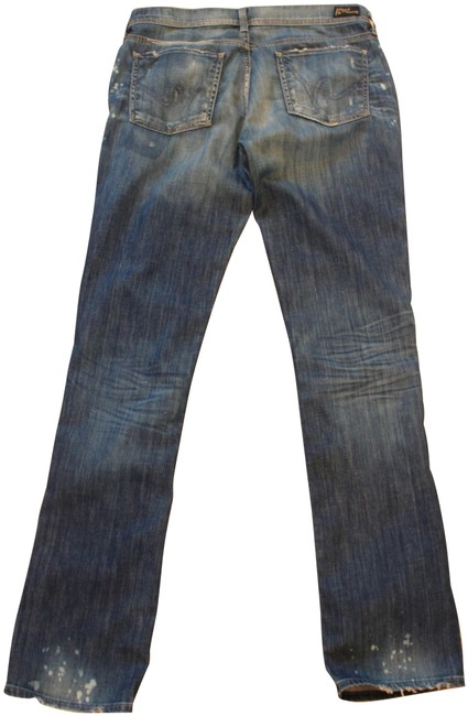 Item - Blue Distressed Ava Boyfriend Cut Jeans Size 31 (6, M)