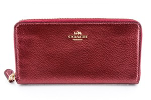 Coach Coach Cherry Metallic Leather Zip-Around Wallet