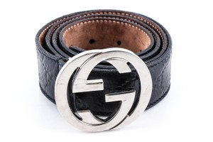 Gucci Gucci Interlocking G-Buckle Leather Belt