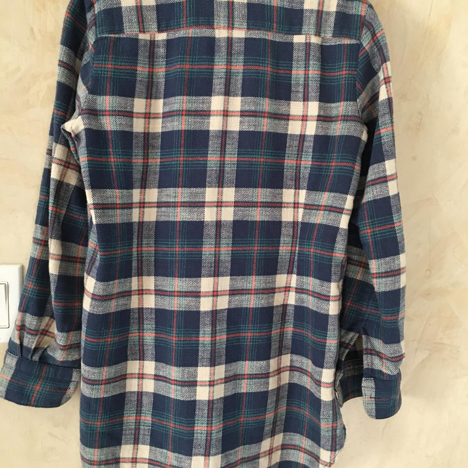 440958f9b6011f Madewell Blue Rivet and Thread Flannel Button-down Top Size 4 (S ...