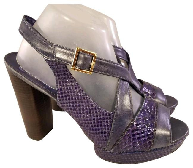 Item - Purple and Blue Woman Snake Purple/Blue M *light Fade Sandals Size US 10 Regular (M, B)