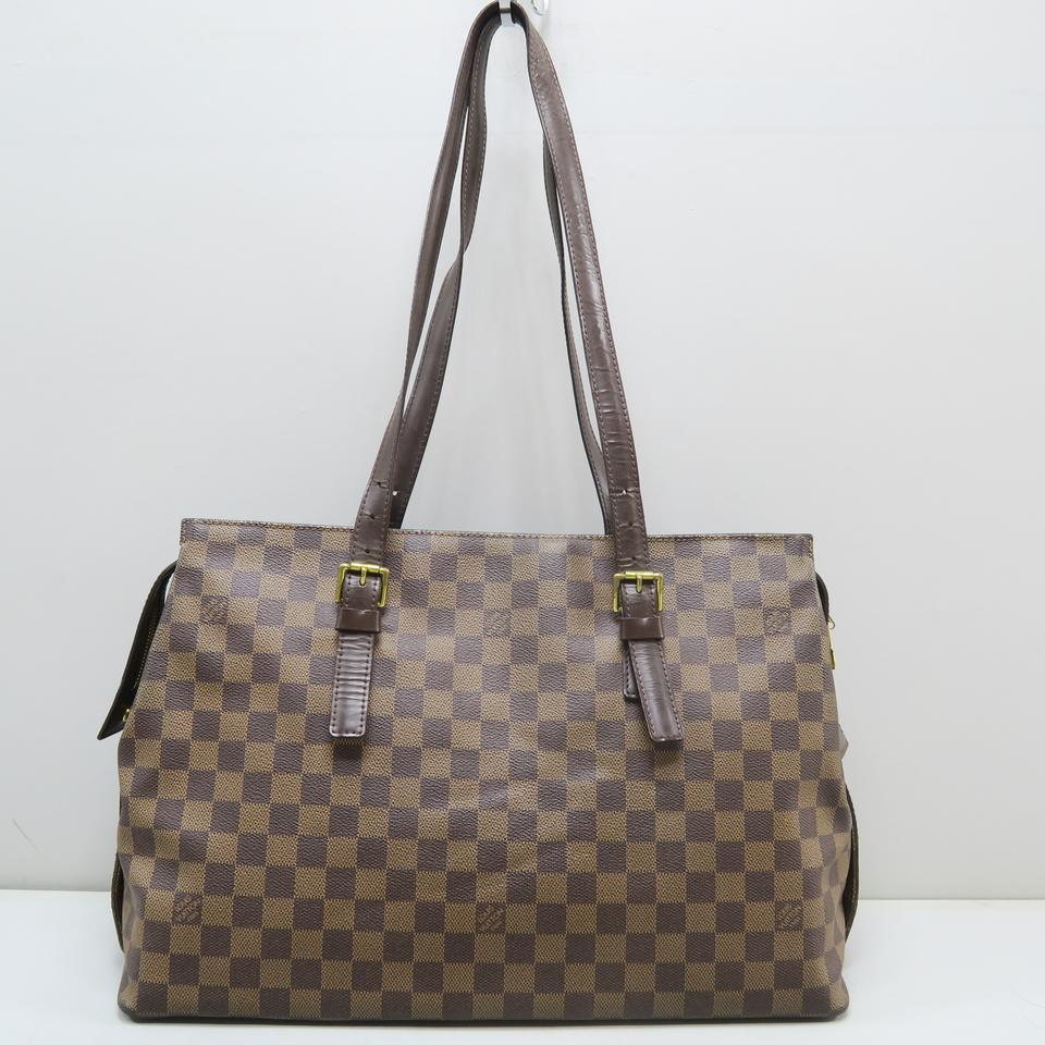 dcb86ed299c56 Louis Vuitton Damier Ebene Canvas Chelsea Tote in Brown Image 0 ...