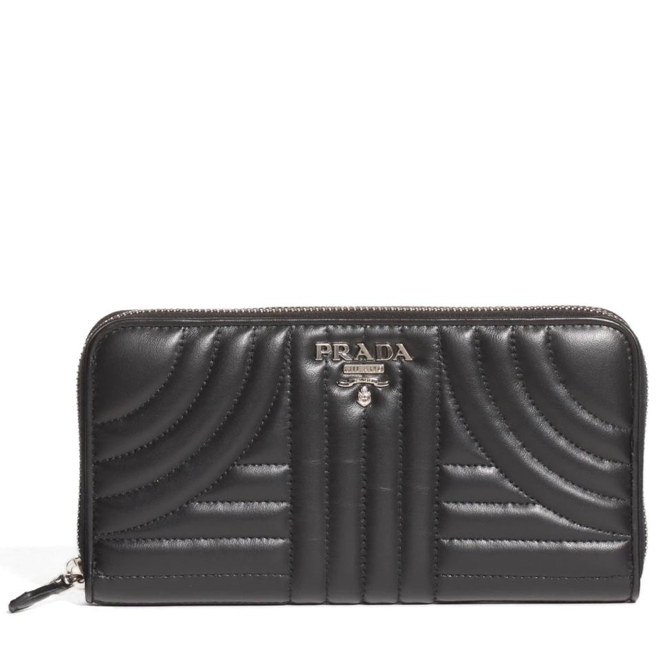 e8a0fcc692c1 Prada PRADA Diagramme Quilted Leather Zip Around Continental Zippy Wallet  Image 0 ...