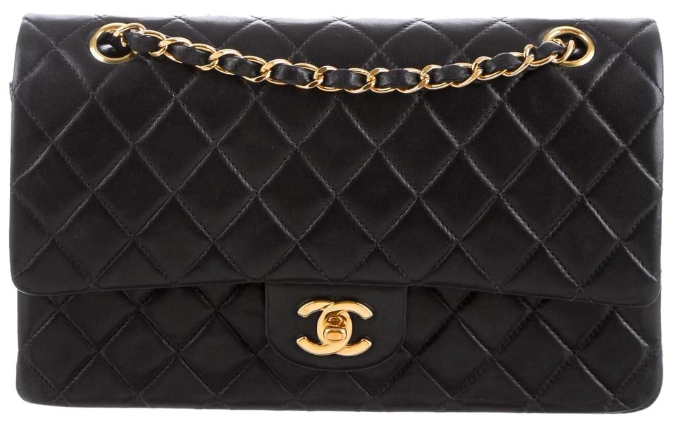 678cd75f6304 Chanel 2.55 Reissue Double Flap Classic Quilted Ghw Medium A01112 Cross  Body Black Lambskin Leather Shoulder Bag