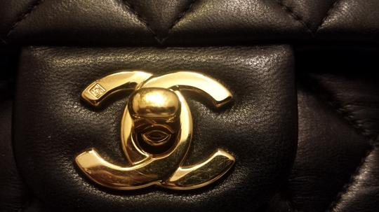 Chanel Classic Flap Cc Logo Quilted Lambskin Caviar Leather Medium Large Shoulder Bag Image 1