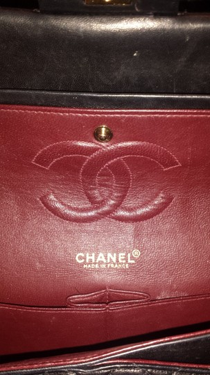 Chanel Classic Flap Cc Logo Quilted Lambskin Caviar Leather Medium Large Shoulder Bag Image 2
