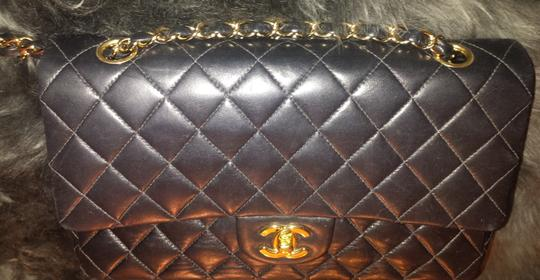 Chanel Classic Flap Cc Logo Quilted Lambskin Caviar Leather Medium Large Shoulder Bag Image 4