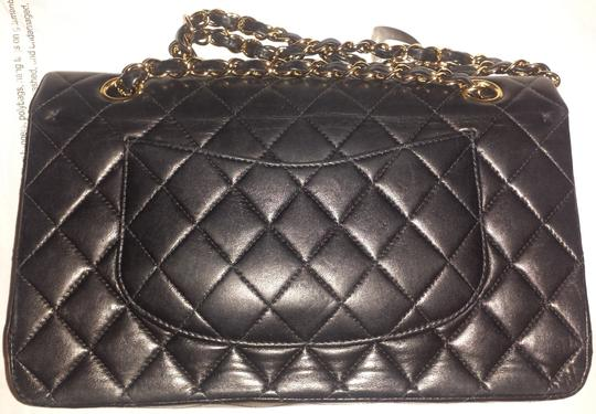 Chanel Classic Flap Cc Logo Quilted Lambskin Caviar Leather Medium Large Shoulder Bag Image 5