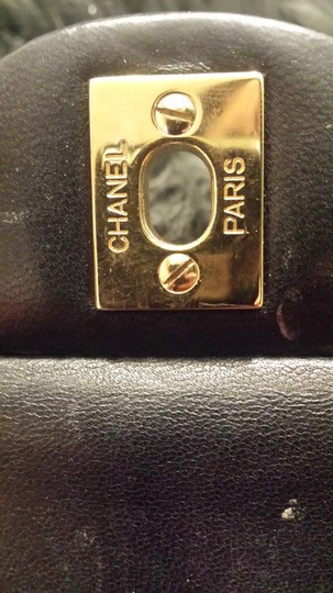 Chanel Classic Flap Cc Logo Quilted Lambskin Caviar Leather Medium Large Shoulder Bag Image 8