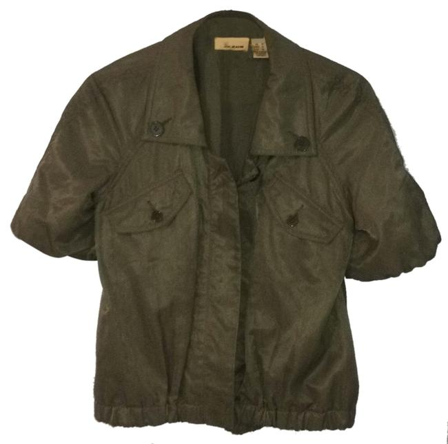 Item - Green Olive Od Short Sleeve Jacket Size 2 (XS)