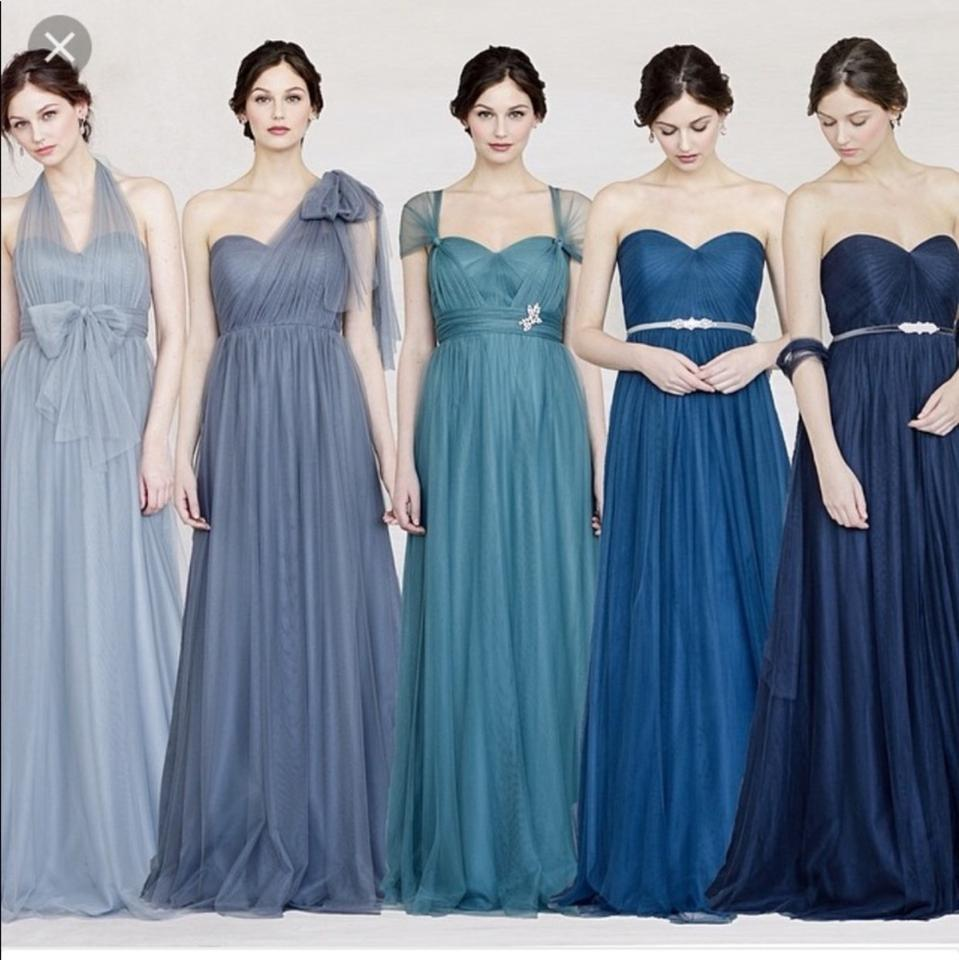 top-rated fashion most popular save up to 60% Jenny Yoo Navy Anabelle Tulle Convertible Bridesmaid Gown Dressing Long  Formal Dress Size 0 (XS) 54% off retail