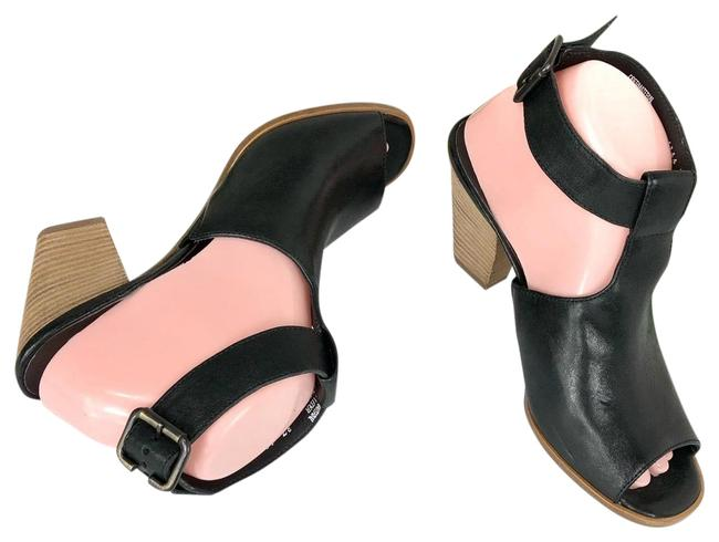 Item - Black Blocked Heel Mules/Slides Size US 7 Regular (M, B)