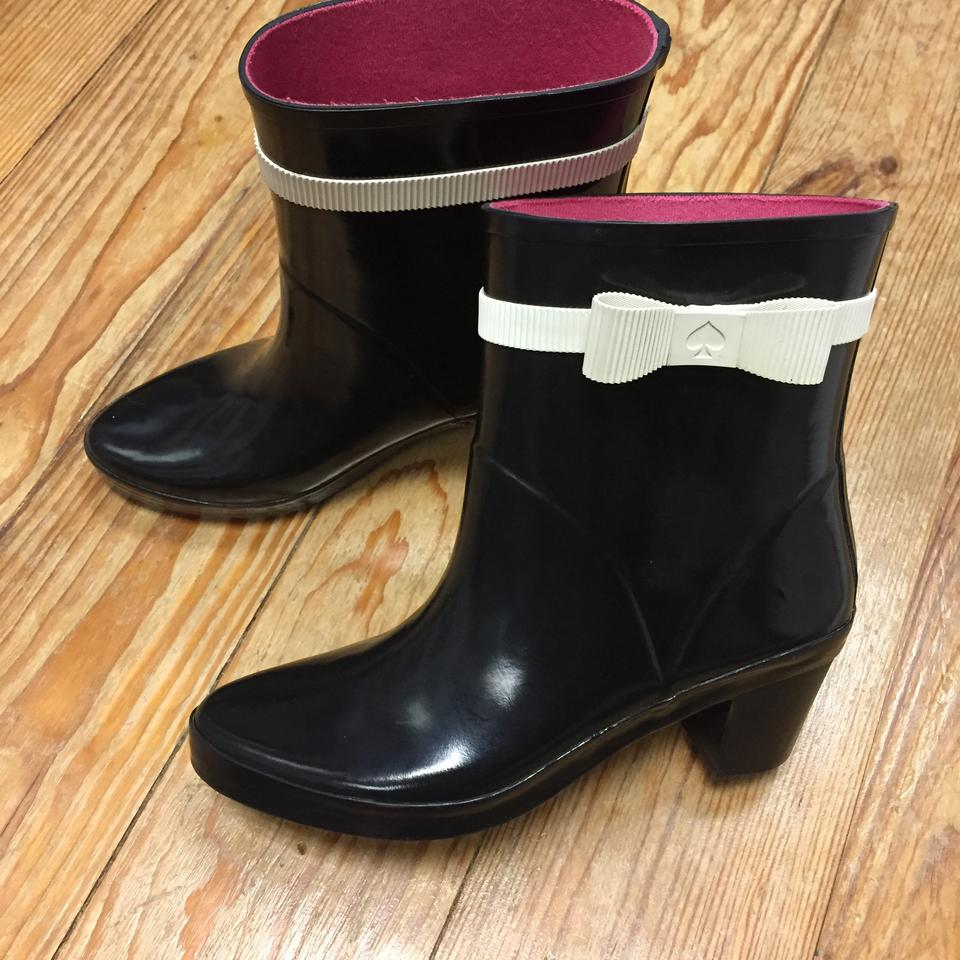 98f989808089 Kate Spade Designer Rainboots Bow Waterproof Black Boots Image 10.  1234567891011