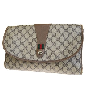 Gucci Gg Vintage Shelly brown Clutch