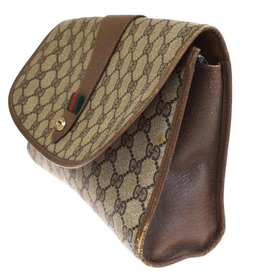 Gucci Gg Vintage Shelly brown Clutch Image 1