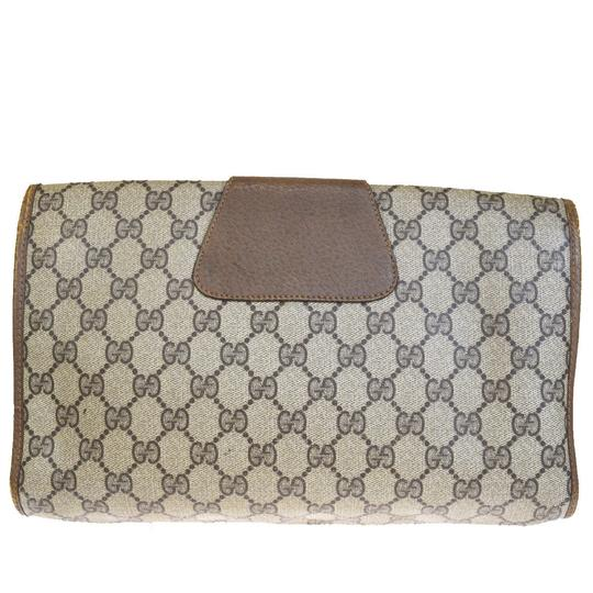 Gucci Gg Vintage Shelly brown Clutch Image 2